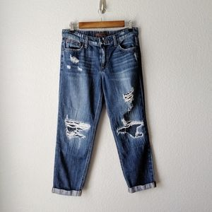 Joe's Jeans Billie Crop Boyfriend Slim Distressed